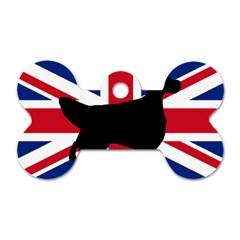 English Setter Silhouette United Kingdom Dog Tag Bone (Two Sides)