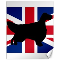 English Setter Silhouette United Kingdom Canvas 11  x 14