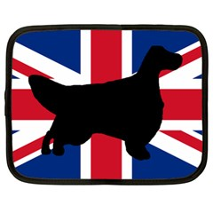 English Setter Silhouette United Kingdom Netbook Case (XL)