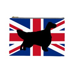English Setter Silhouette United Kingdom Cosmetic Bag (Large)