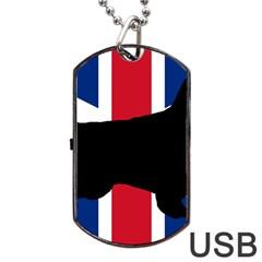 English Setter Silhouette United Kingdom Dog Tag USB Flash (One Side)