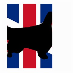 English Setter Silhouette United Kingdom Large Garden Flag (Two Sides)