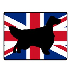 English Setter Silhouette United Kingdom Double Sided Fleece Blanket (Small)