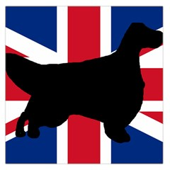 English Setter Silhouette United Kingdom Large Satin Scarf (Square)