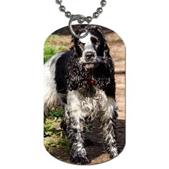 Black Roan English Cocker Spaniel Dog Tag (Two Sides)