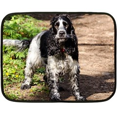 Black Roan English Cocker Spaniel Double Sided Fleece Blanket (Mini)
