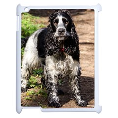 Black Roan English Cocker Spaniel Apple iPad 2 Case (White)