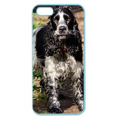 Black Roan English Cocker Spaniel Apple Seamless iPhone 5 Case (Color)