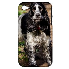 Black Roan English Cocker Spaniel Apple iPhone 4/4S Hardshell Case (PC+Silicone)