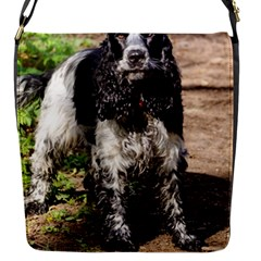 Black Roan English Cocker Spaniel Flap Messenger Bag (S)