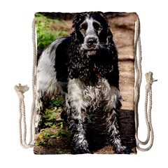 Black Roan English Cocker Spaniel Drawstring Bag (Large)