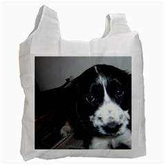 Black Roan English Cocker Spaniel Puppy Recycle Bag (Two Side)