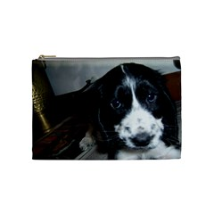 Black Roan English Cocker Spaniel Puppy Cosmetic Bag (Medium)