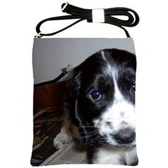 Black Roan English Cocker Spaniel Puppy Shoulder Sling Bags