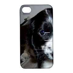 Black Roan English Cocker Spaniel Puppy Apple iPhone 4/4S Hardshell Case with Stand