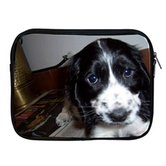 Black Roan English Cocker Spaniel Puppy Apple iPad 2/3/4 Zipper Cases