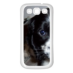 Black Roan English Cocker Spaniel Puppy Samsung Galaxy S3 Back Case (White)