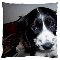 Black Roan English Cocker Spaniel Puppy Standard Flano Cushion Case (Two Sides)