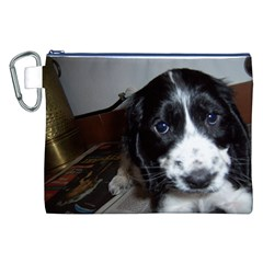 Black Roan English Cocker Spaniel Puppy Canvas Cosmetic Bag (XXL)