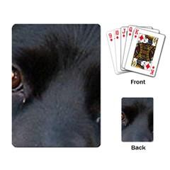 Cocker Spaniel Black Eyes Playing Card