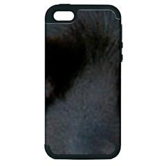 Cocker Spaniel Black Eyes Apple iPhone 5 Hardshell Case (PC+Silicone)