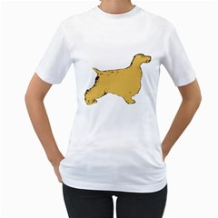 English Cocker Spaniel Silo Color Women s T-Shirt (White) (Two Sided)