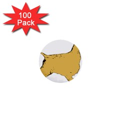 English Cocker Spaniel Silo Color 1  Mini Buttons (100 pack)