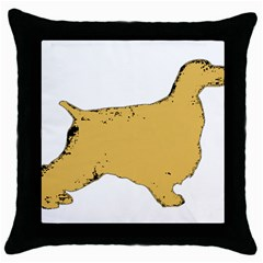 English Cocker Spaniel Silo Color Throw Pillow Case (Black)