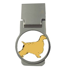 English Cocker Spaniel Silo Color Money Clips (Round)