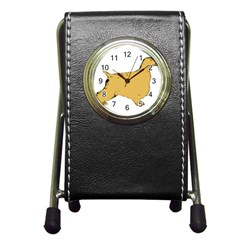 English Cocker Spaniel Silo Color Pen Holder Desk Clocks