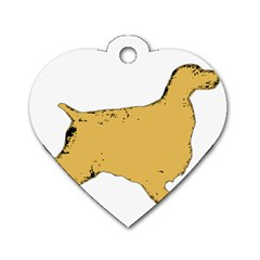 English Cocker Spaniel Silo Color Dog Tag Heart (One Side)