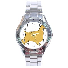 English Cocker Spaniel Silo Color Stainless Steel Analogue Watch