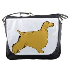 English Cocker Spaniel Silo Color Messenger Bags