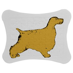 English Cocker Spaniel Silo Color Jigsaw Puzzle Photo Stand (Bow)