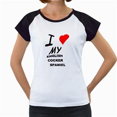 English Cocker Sp Love Women s Cap Sleeve T