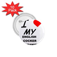 English Cocker Sp Love 1.75  Buttons (10 pack)