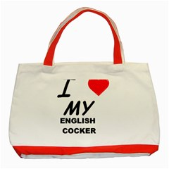 English Cocker Sp Love Classic Tote Bag (Red)