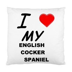 English Cocker Sp Love Standard Cushion Case (Two Sides)