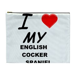 English Cocker Sp Love Cosmetic Bag (XL)