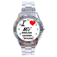 English Cocker Sp Love Stainless Steel Analogue Watch