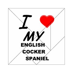 English Cocker Sp Love Acrylic Tangram Puzzle (6  x 6 )