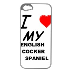 English Cocker Sp Love Apple iPhone 5 Case (Silver)