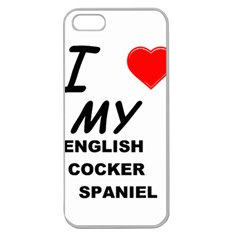 English Cocker Sp Love Apple Seamless iPhone 5 Case (Clear)