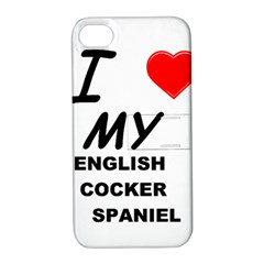 English Cocker Sp Love Apple iPhone 4/4S Hardshell Case with Stand