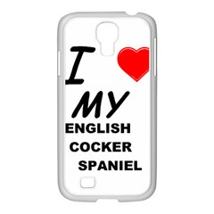 English Cocker Sp Love Samsung GALAXY S4 I9500/ I9505 Case (White)