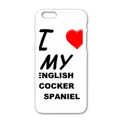 English Cocker Sp Love Apple iPhone 6/6S White Enamel Case