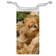 Red Cocker Spaniel Red Jewelry Bag