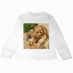 Red Cocker Spaniel Red Kids Long Sleeve T-Shirts
