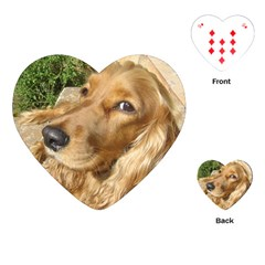 Red Cocker Spaniel Red Playing Cards (Heart)