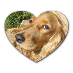 Red Cocker Spaniel Red Heart Mousepads